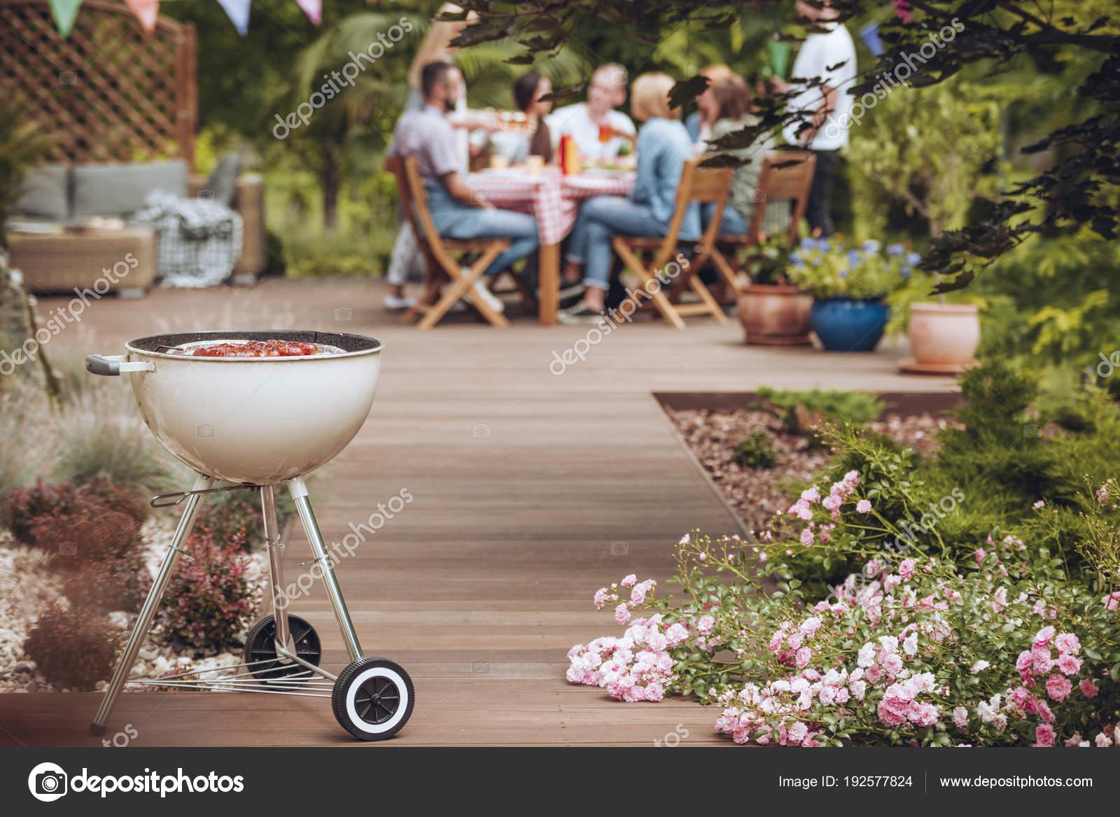Grill in garden — Stock Photo © photographee.eu #192577824