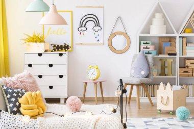 Bright playroom interior