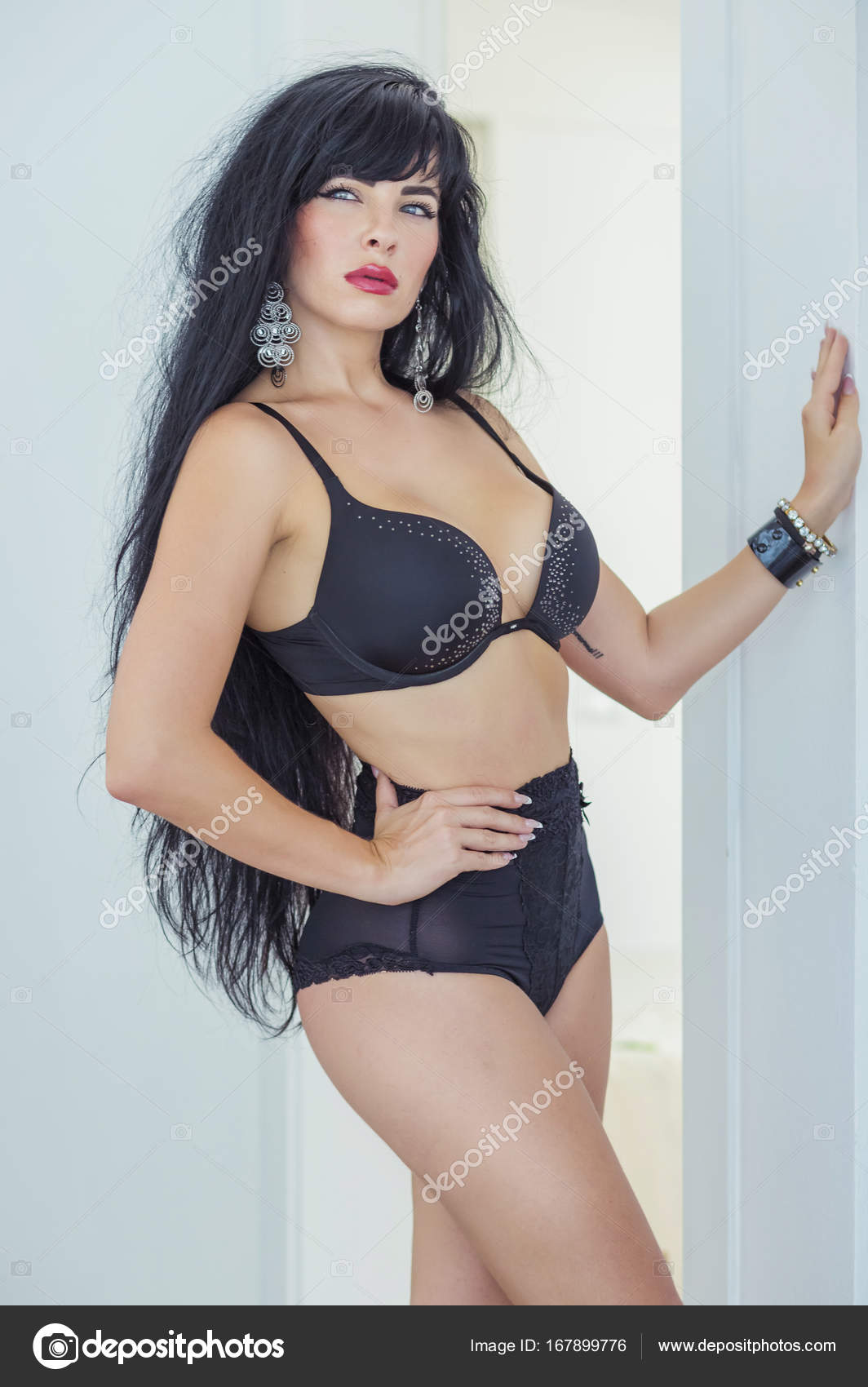 sexy latina with long black hair — stock photo © margo_soulxray