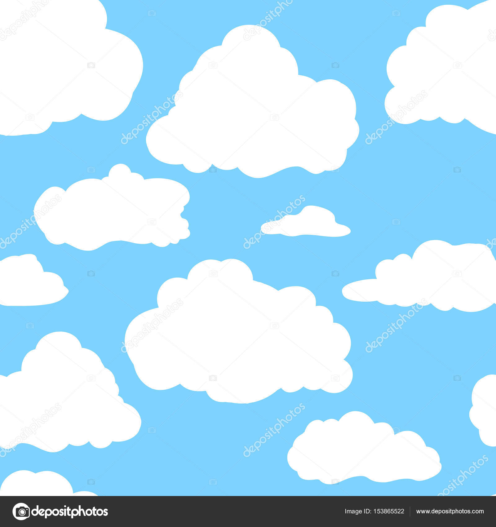 blue sky with white clouds hand drawn seamless pattern vector rh depositphotos com vector sky free download vector skyline rotterdam