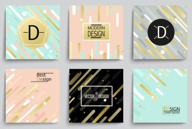 Set of elegant banner templates with Flat Dynamic Design. Applicable for Covers, Placards, Posters, Flyers and Banner Designs. Vector illustration. clip art vector
