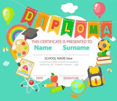 Kids Diploma certificate template