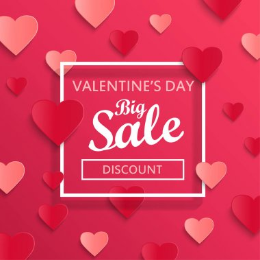 Valentines day big sale template