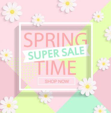 pastel spring sale design.