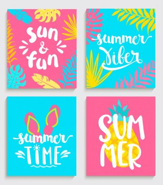 Bright cards for summer.