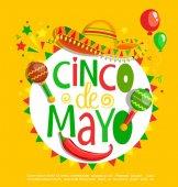 Fotografie Cinco De Mayo, lettering poster