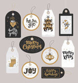 Fotografie Set of Christmas holidays tags