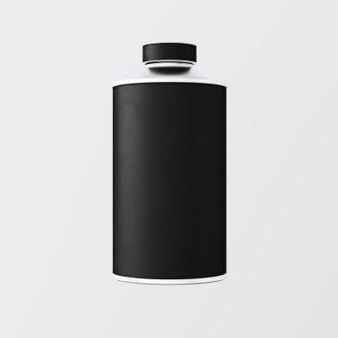 Black Matte Color Metal Jar