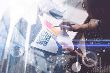 Businessman analyze documents