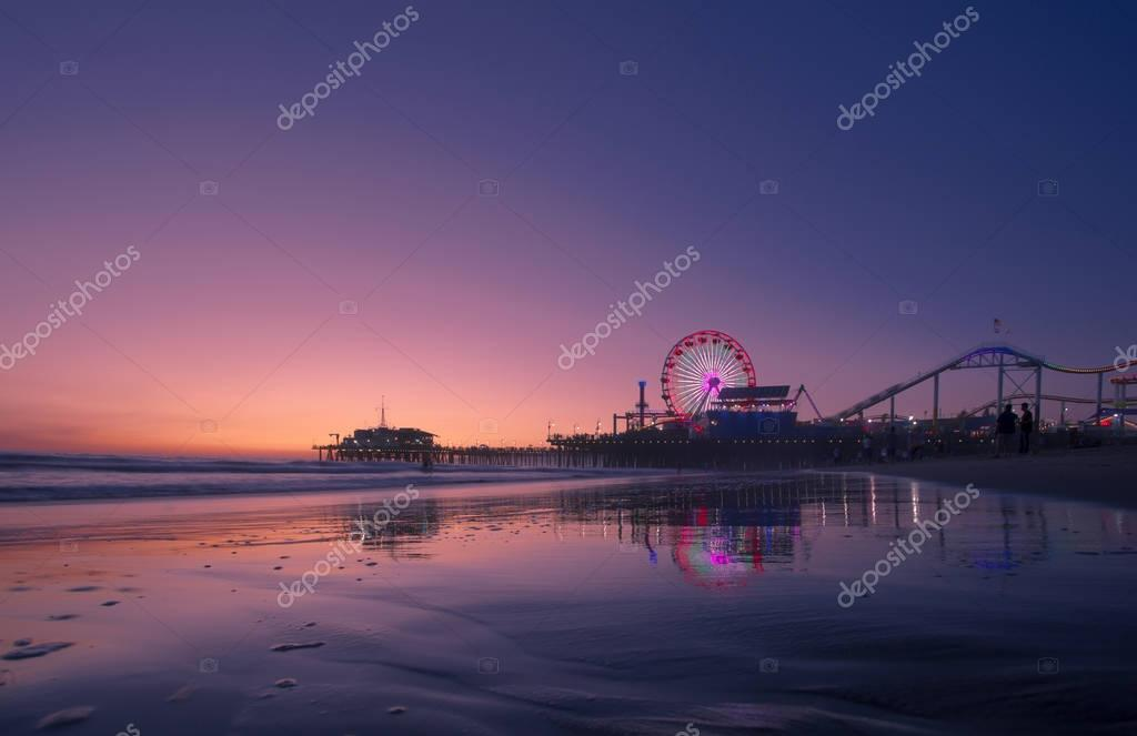 Santa Monica Pier at sunset, Los Angeles