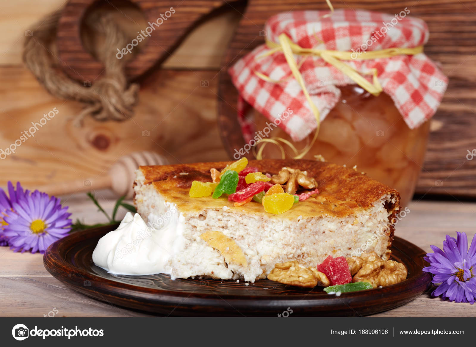 Fine White Cottage Cheese Pudding With Nuts Casserole Stock Download Free Architecture Designs Intelgarnamadebymaigaardcom