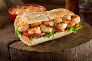 Shrimp Po Boy Sandwich
