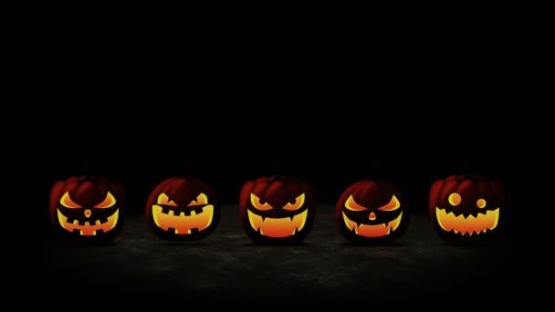 Halloween tökfej Jack Lámpás. Narancs tök különböző kifejezésekkel. A Halloween party ünnep szimbóluma.