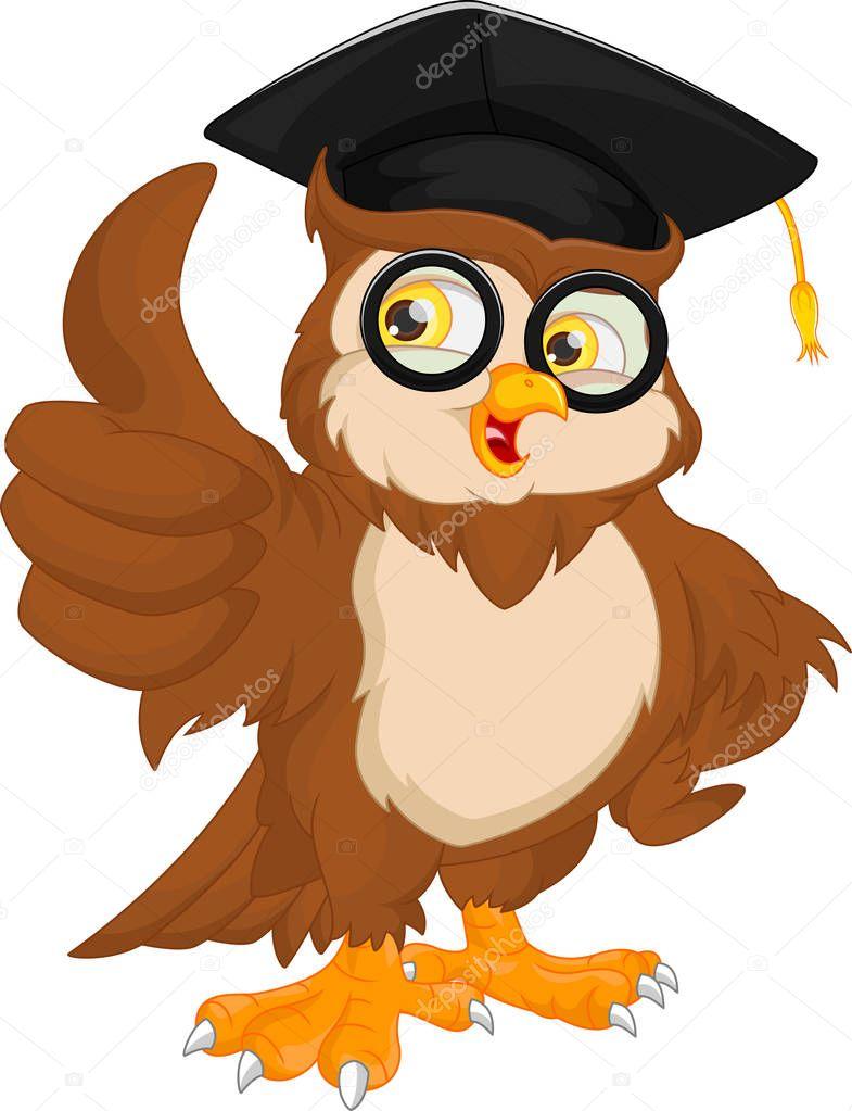 owl wearing graduation cap stock vector  u00a9 lawangdesign Graduation Cap Pre-K Diploma Clip Art