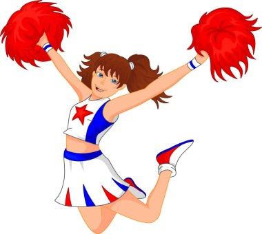cute cheerleader girl