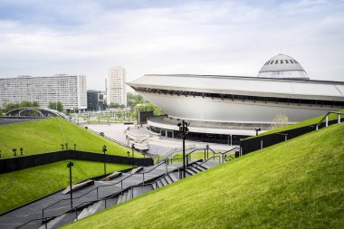 Entertainment hall called Spodek in city center of Katowice, Pol