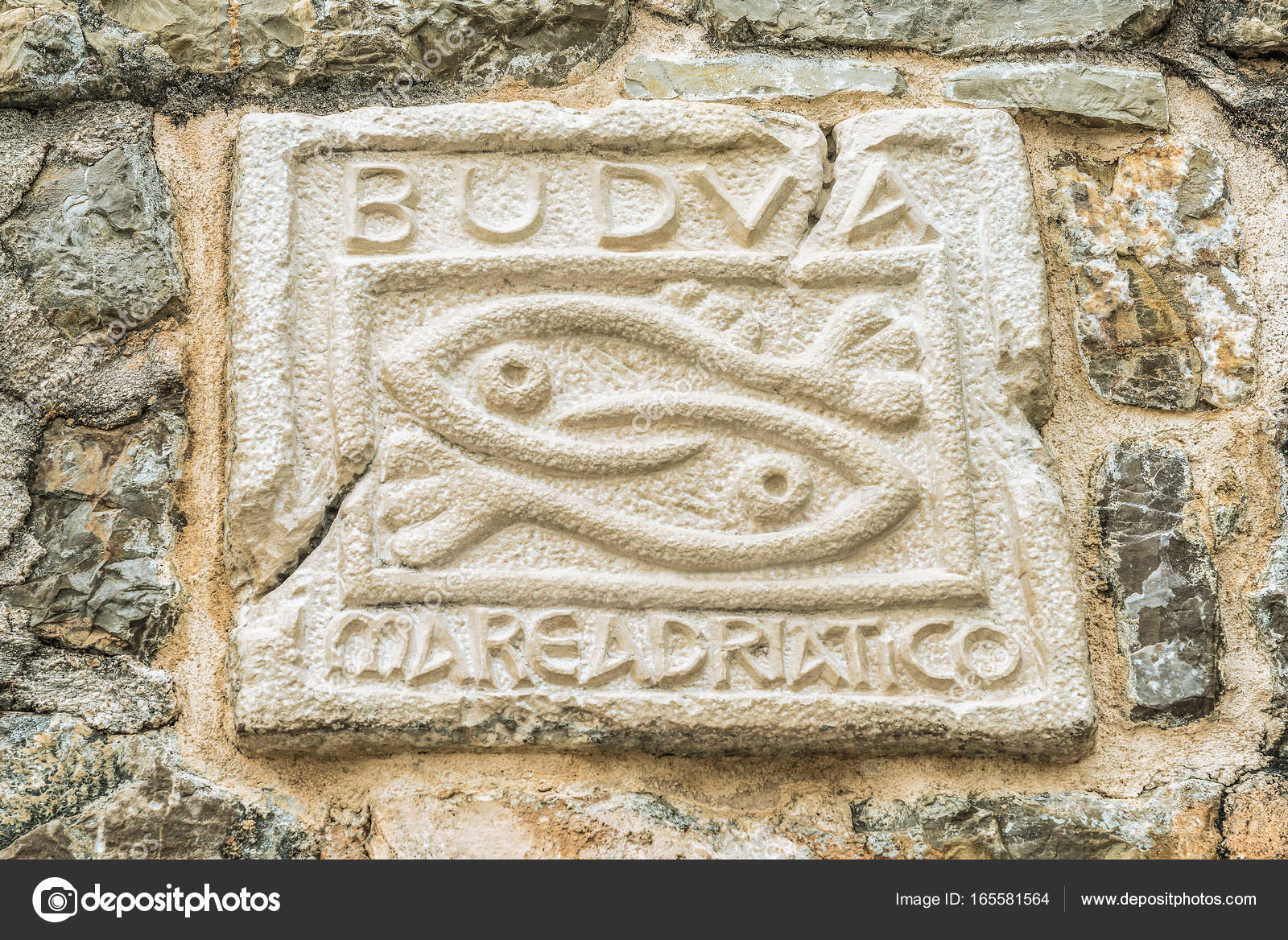 Two Fish A Symbol Of The City Of Budva Montenegro The Historical