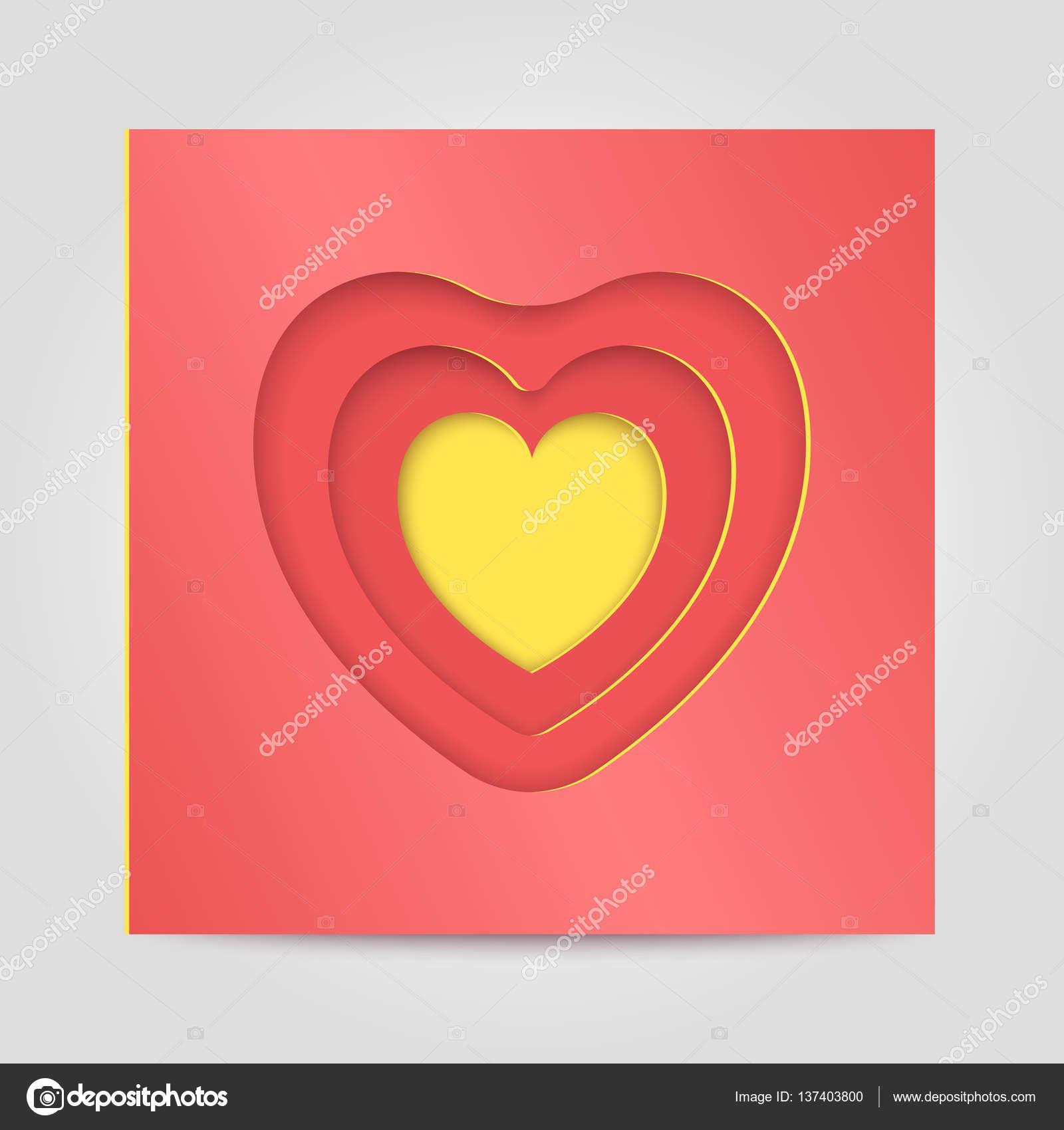 Glückwunsch-Vorlage Happy Valentine — Stockvektor © Smartape #137403800