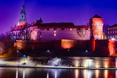 Royal castle of the Polish kings on the Wawel hill
