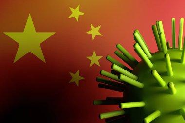 Virus with China Flag