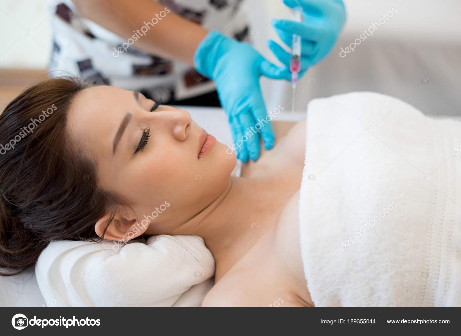 Surgery Cosmetology Inject Botox Breast — Stock Photo © Jcomp #189355044