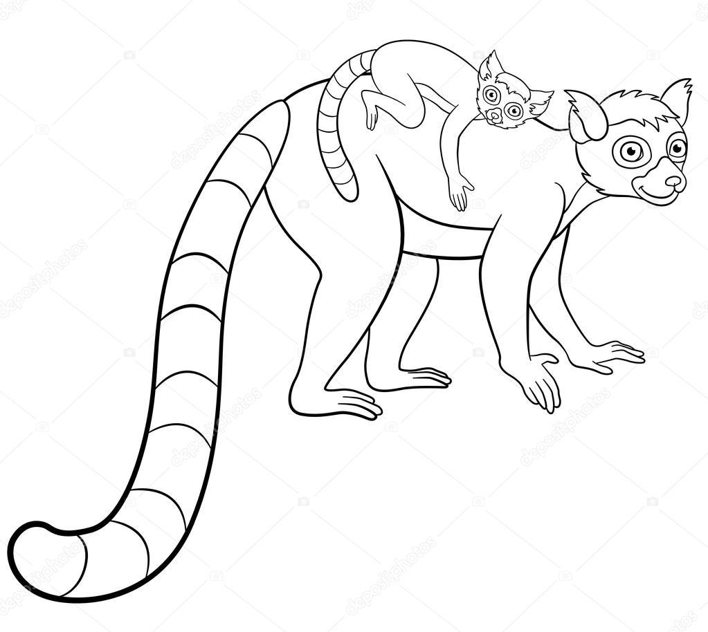 kleurplaat baby aap moeder kidkleurplaat nl