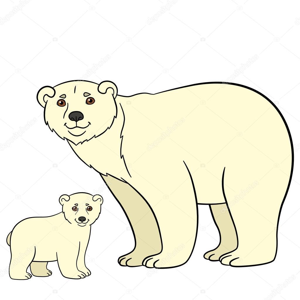 Dibujos Osos Polares Bebes Animales De La Historieta Madre Oso