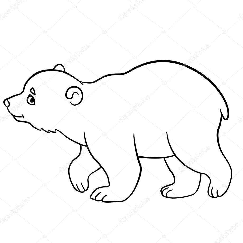 Im genes oso de perfil dibujo dibujos para colorear - Orsi polari pagine da colorare ...