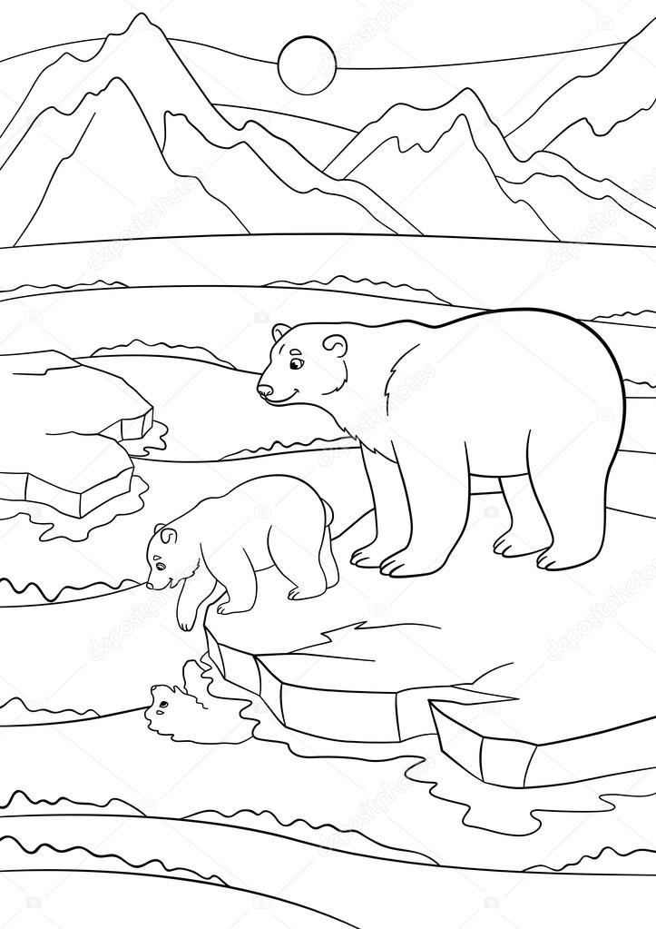 Dibujos: osos polares bebes para colorear | Dibujos para colorear ...