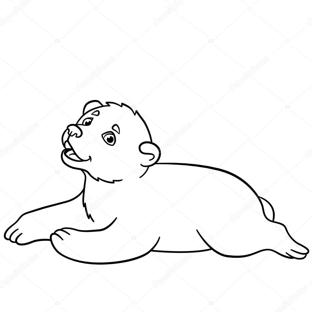 Dibujos para colorear. Osito lindo bebé — Vector de stock © ya-mayka ...
