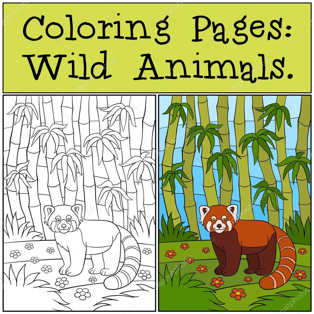 Dibujos para colorear: Animales salvajes. Pequeñas sonrisas lindo ...