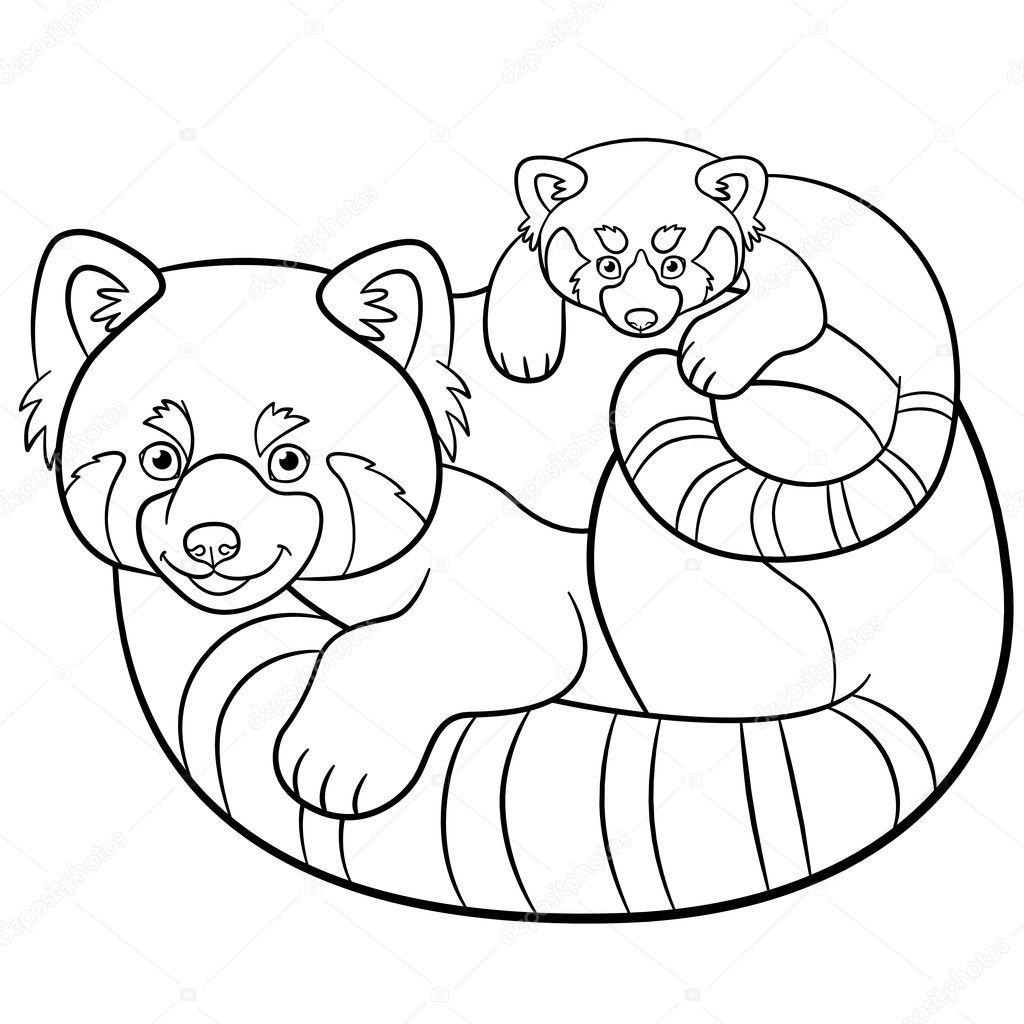 Top 25 Free Printable Cute Panda Bear Coloring Pages Online | 1024x1024