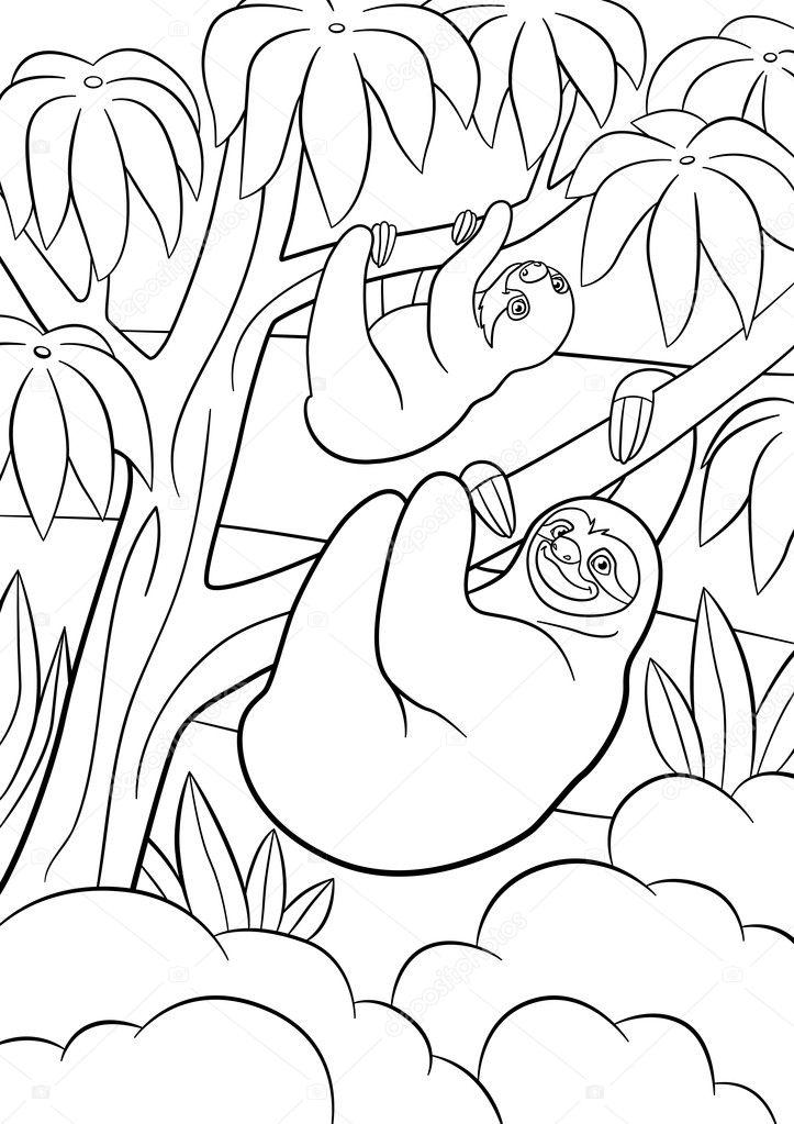 Imágenes: oso perezoso para colorear | Dibujos para colorear ...