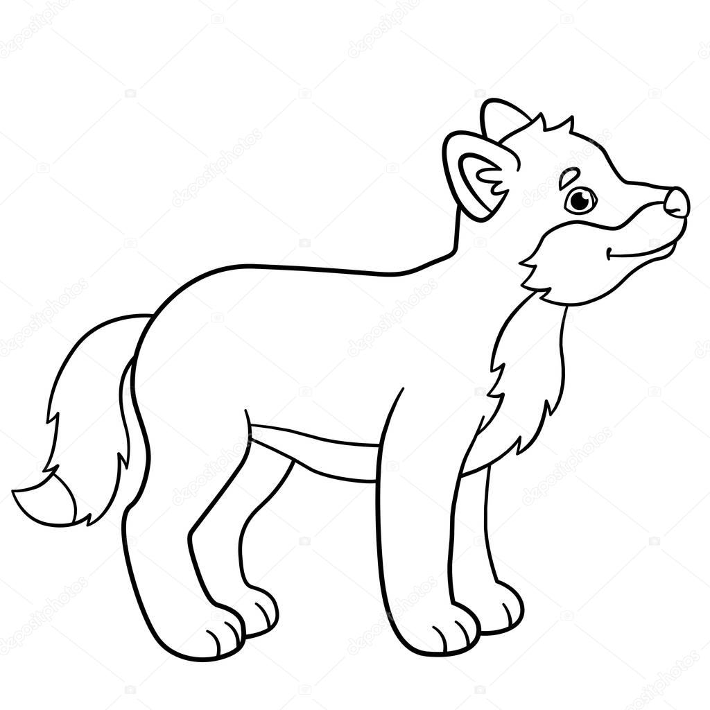 Cutest Baby Penguin Coloring Pages Little Cute Baby Wolf Smiles
