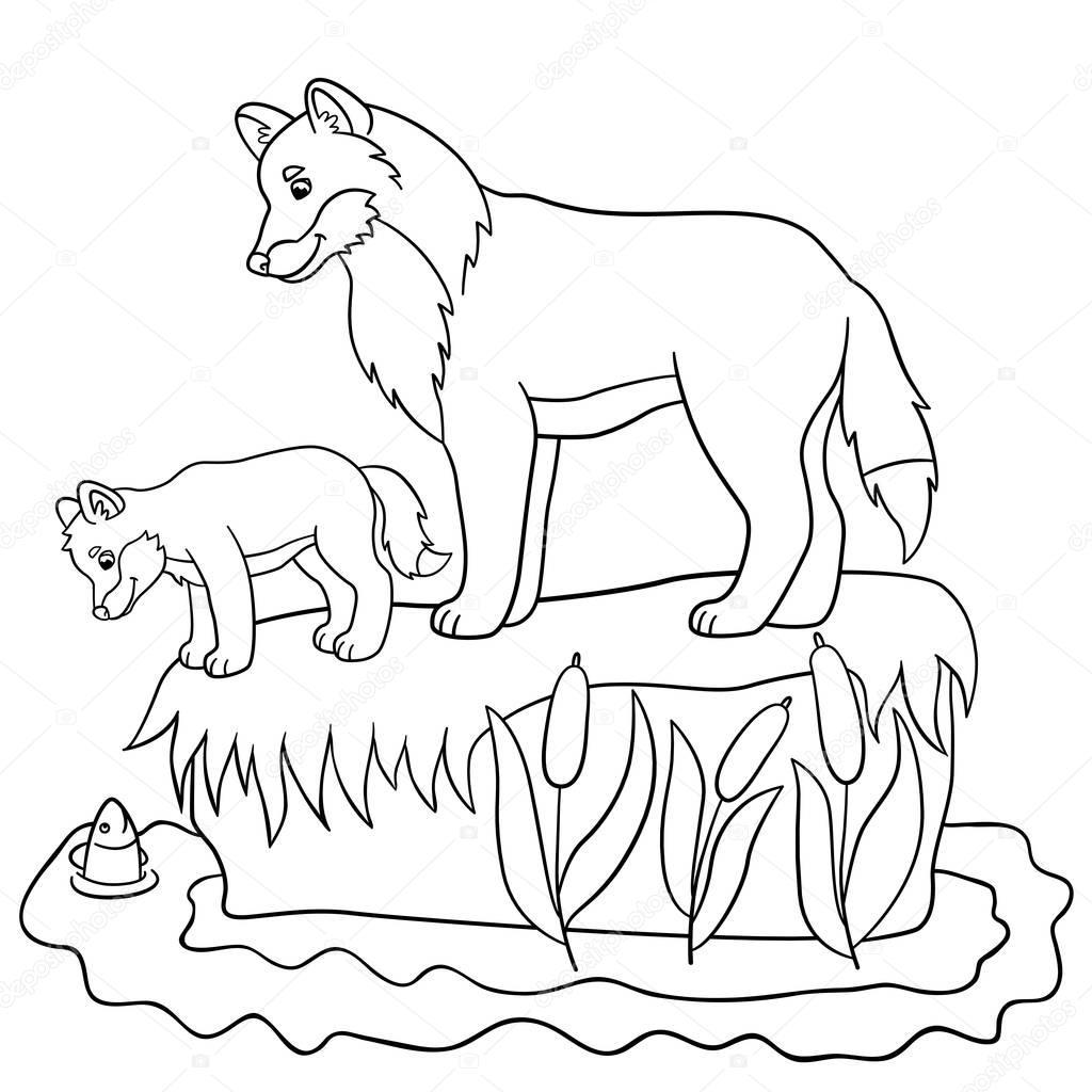 Großartig Baby Wölfe Malvorlagen Galerie - Beispiel Anschreiben für ...