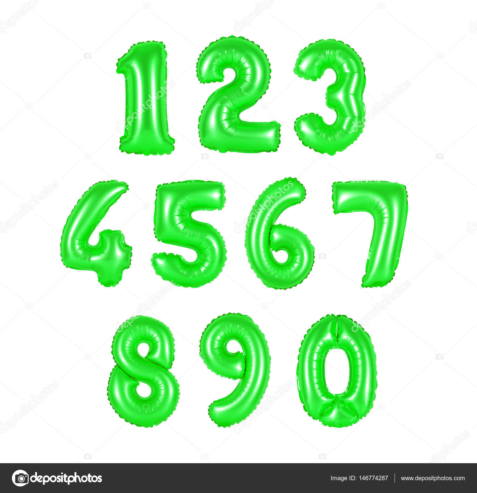 number from balloons green color — Stock Photo © aquarius1983men ...