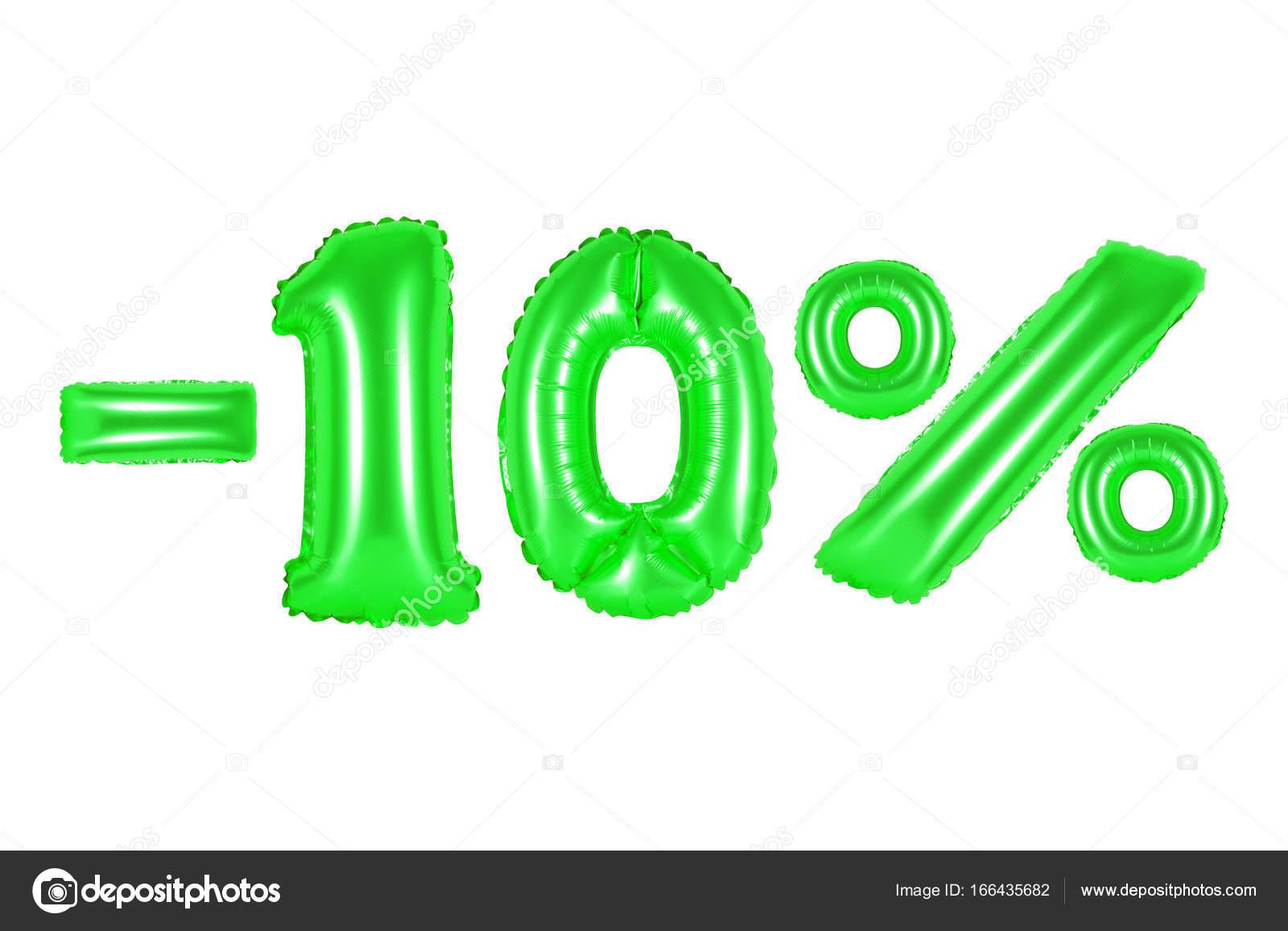 10 percent, green color — Stock Photo © aquarius1983men #166435682