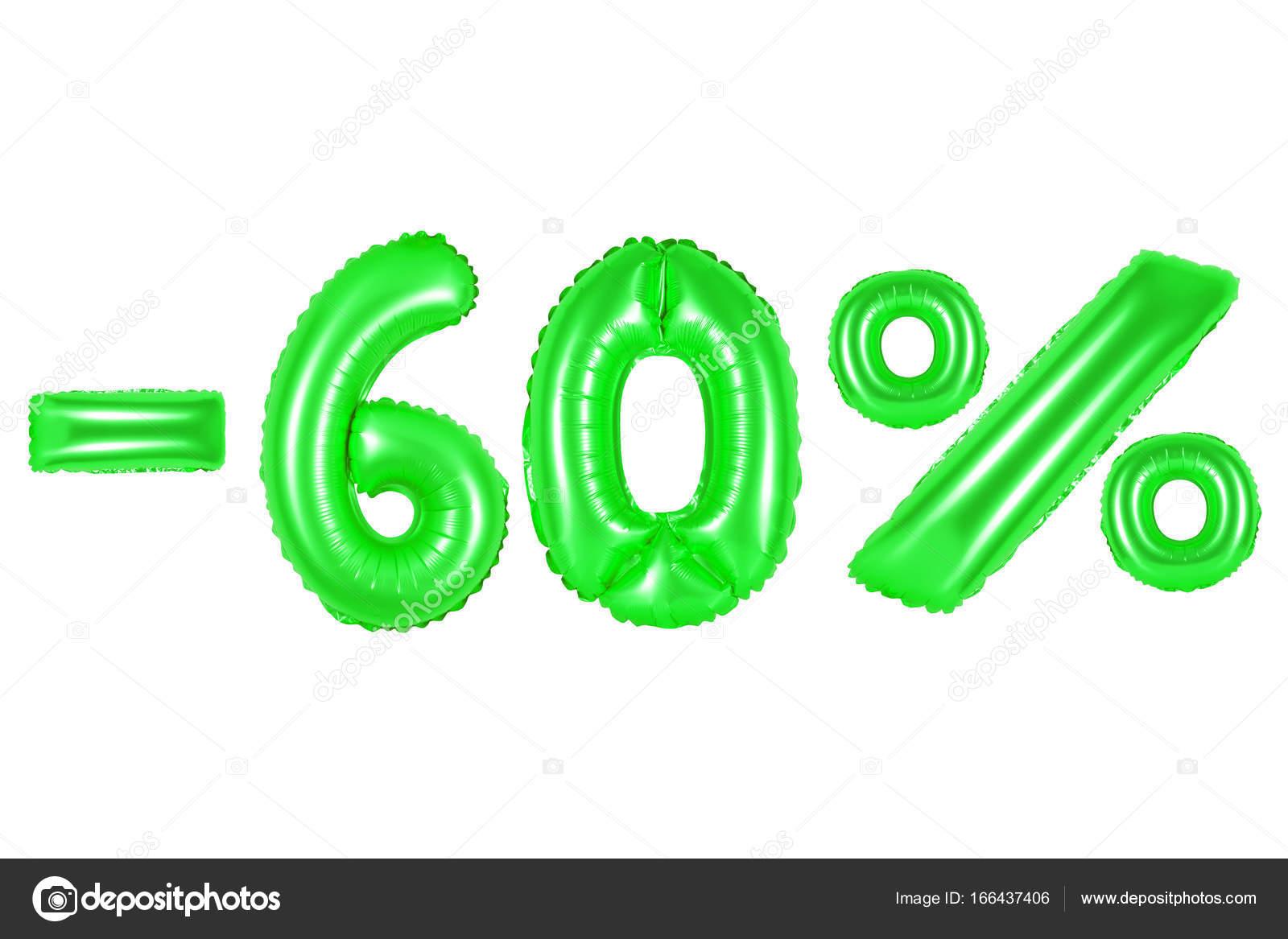 60 percent, green color — Stock Photo © aquarius1983men #166437406