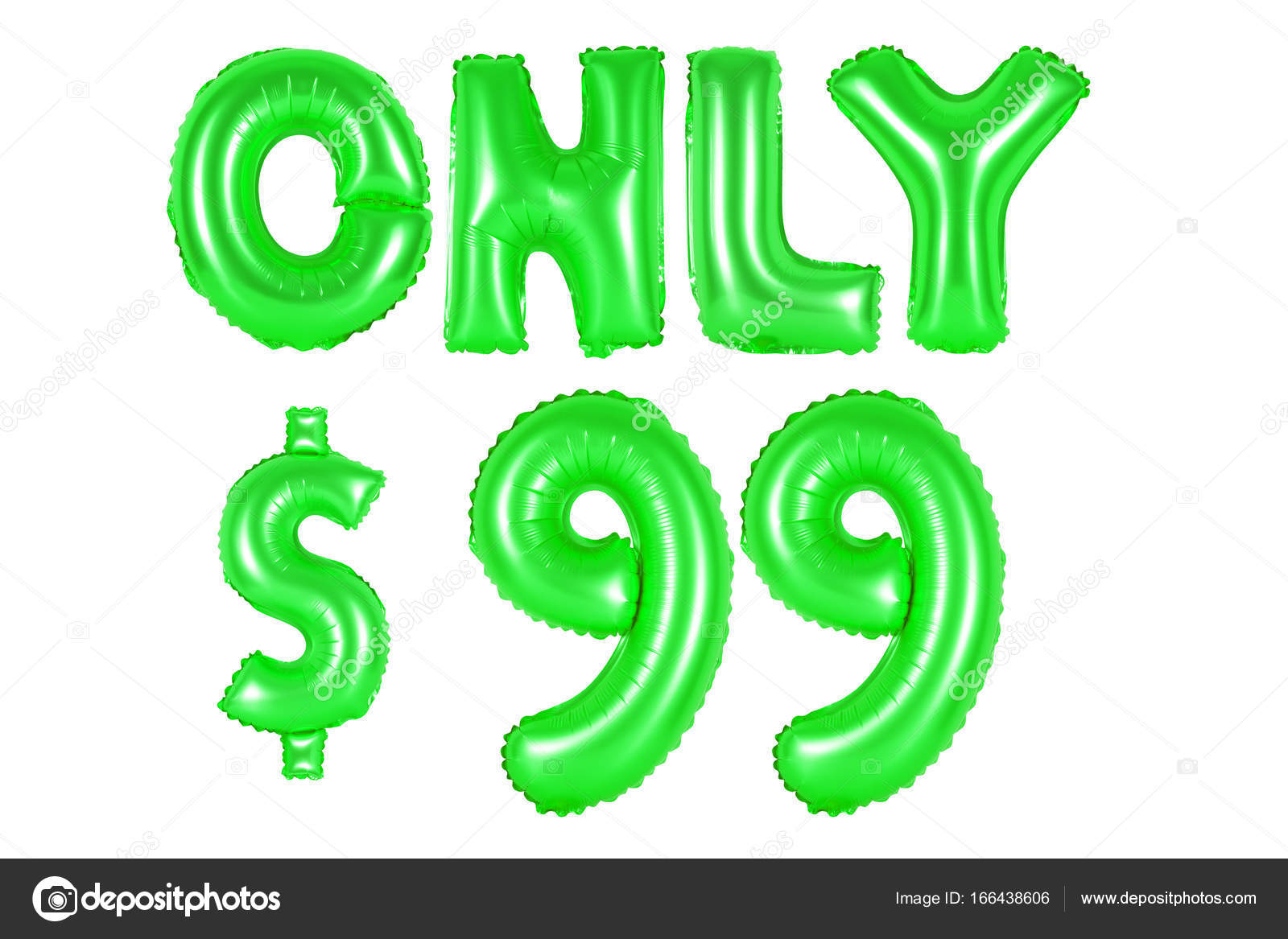 only ninety-nine dollars, green color — Stock Photo ...
