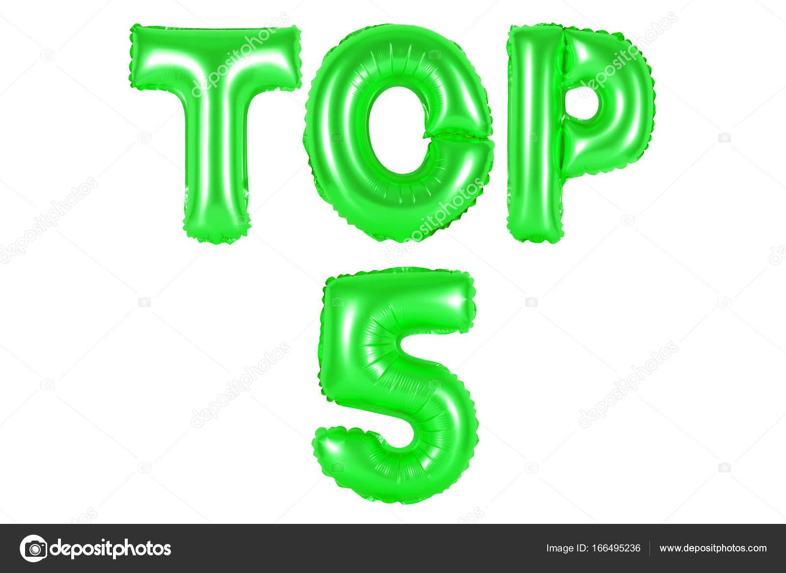 top 5, green color — Stock Photo © aquarius1983men #166495236