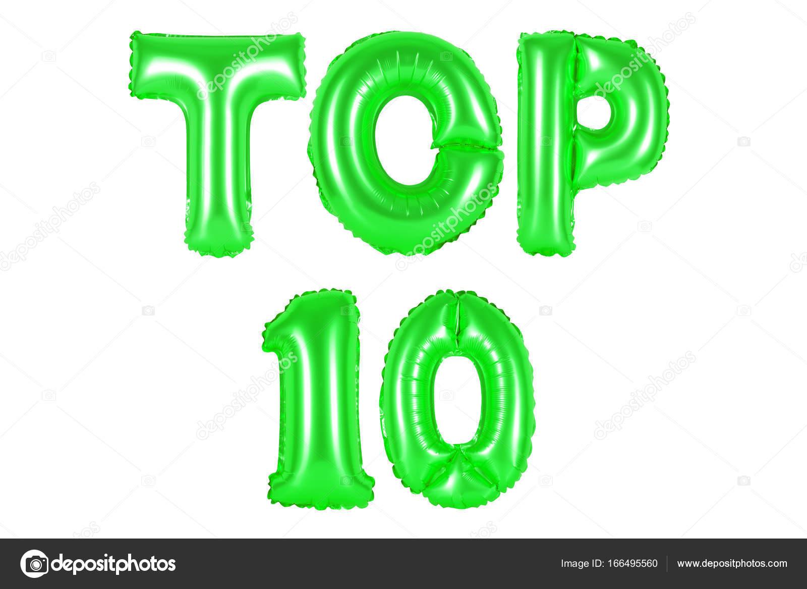 top 10, green color — Stock Photo © aquarius1983men #166495560
