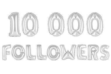 ten thousand followers, chrome (grey) color