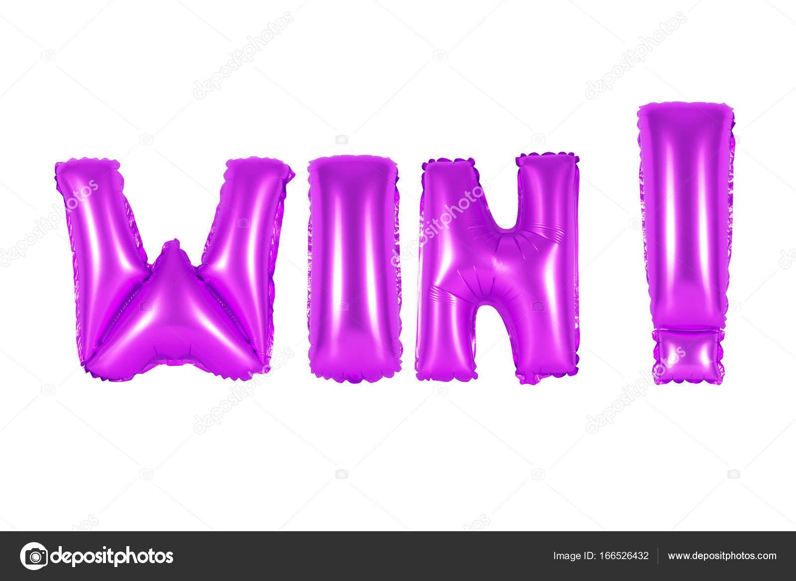 win, purple color — Stock Photo © aquarius1983men #166526432