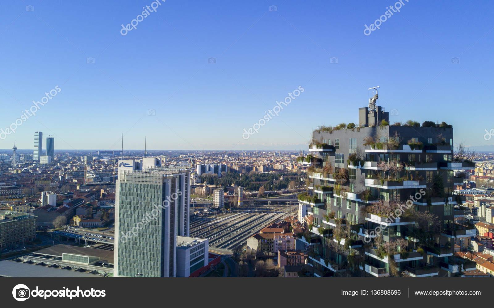 Vista aerea del centro di milano residenze porta nuova e - Residenze di porta nuova ...