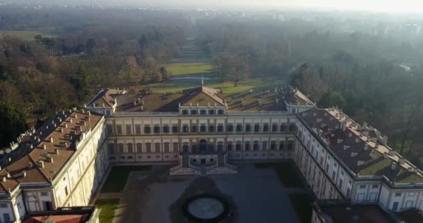 Villa Reale, Monza, Italy. Aerial view of Royal gardens and park of Monza