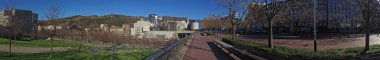 Panoramic view of the Guggenheim Museum Bilbao, Basque Country, Spain, 25/01/2017, the museum of modern and contemporary art,