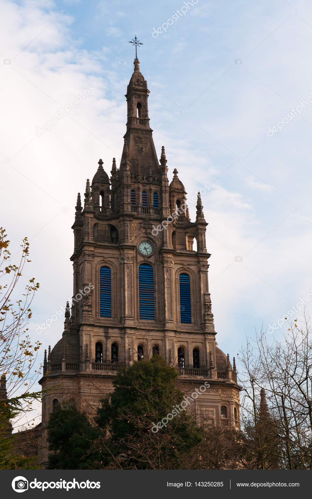 Bilbao The Basilica Of Begona A Xvi Century Church In Gothic And