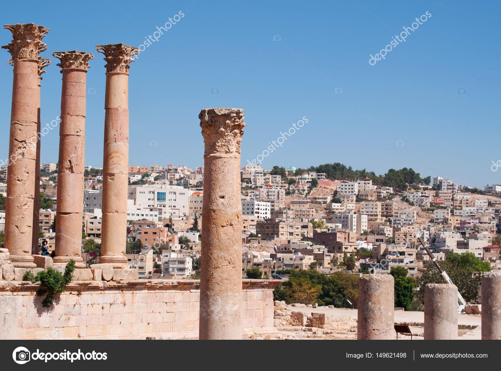 jordan the corinthian columns of the temple of artemis in the