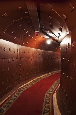 Moscow: a tunnel at Bunker-42, anti-nuclear underground facility built in 1956 as command post of strategic nuclear forces of Soviet Union at a depth of 65 meter under Taganka Square