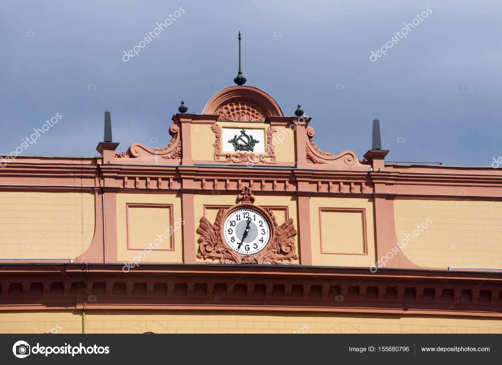 Fassade Gelb moskau russland der gelbe ziegel fassade der lubjanka gebäude